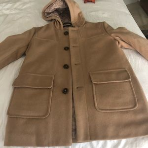 Boys size 10R Ralph Lauren camel wool dress coat